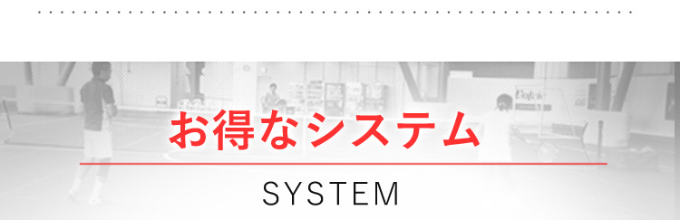 お得なシステム